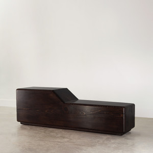 Urbano Solid Wood Bench 14 x 60 x 19.5 H inches Espresso Finish