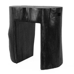 Tocón Stool 12 - 16 diameter x 20 H inches (each is unique - expect variation) Ebony Finish Sealed Topcoat