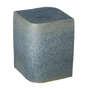 Aero Ceramic Cube 13.5 x 13.5 x 18 H inches Ceramic Azure Blue
