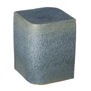 Aero Ceramic Cube 13.5 x 13.5 x 18 H inches Ceramic Azure Blue