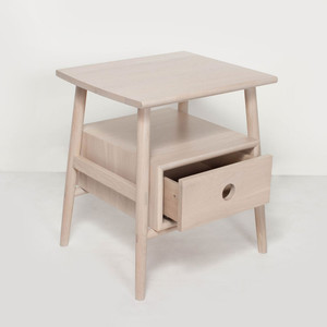 Sitka Side Table 18.75 x 16 x 21 H inches Solid White Oak  Nude Finish