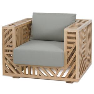 Ari Lounge Chair - 02-ARI CHR/NAT 37.5 x 32.5 x 31 H inches, Seat 17 H inches Pine, Cotton
