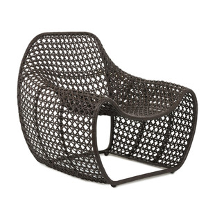 Bella Occasional Chair 34 x 31.5 x 33.25 H inches, Seat 18 H inches Woven leather, Iron
