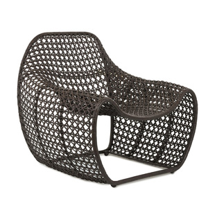 Bella Occasional Chair - 05-BELL CHR/BRN 34 x 31.5 x 33.25 H inches, Seat 18 H inches Woven leather, Iron