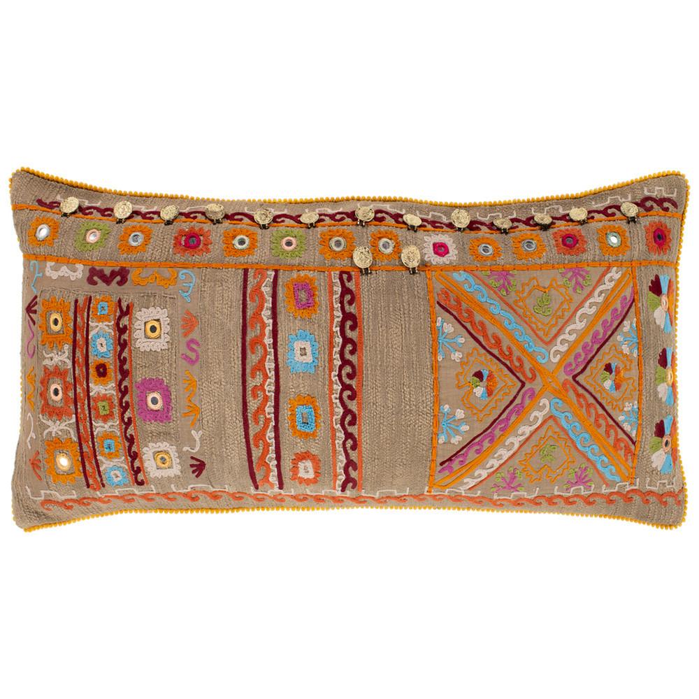 Cali Long Throw Pillow - BGL-001 14 x 32 inches Cotton
