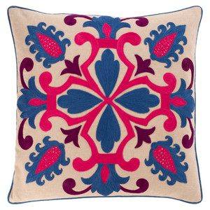 Kavhi Throw Pillow - KVH-003 18 x 18 inches Cotton