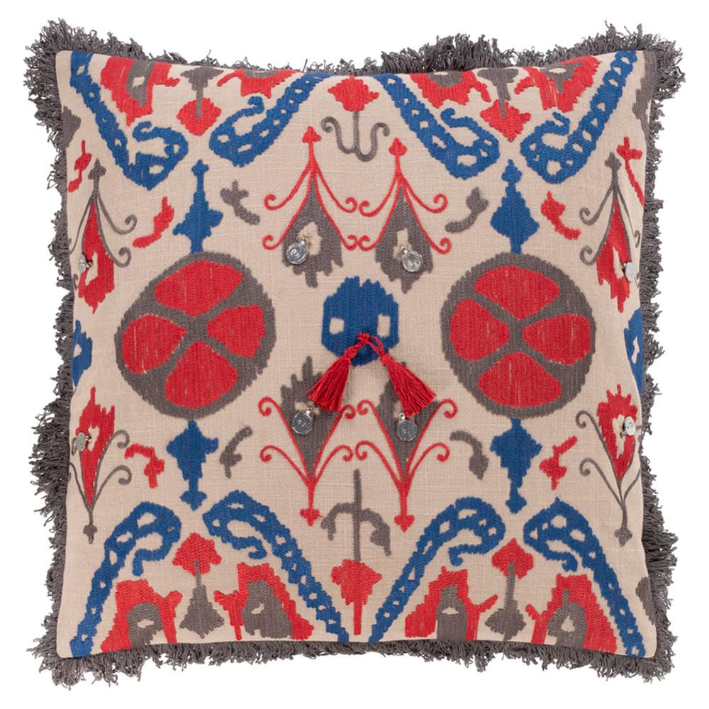 Walai Throw Pillow - WLA-001 18 x 18 inches Cotton