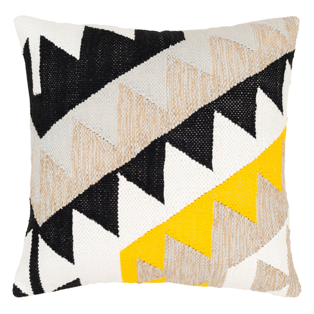 Geotri Throw Pillow - HRE-002 20 x 20 inches Cotton
