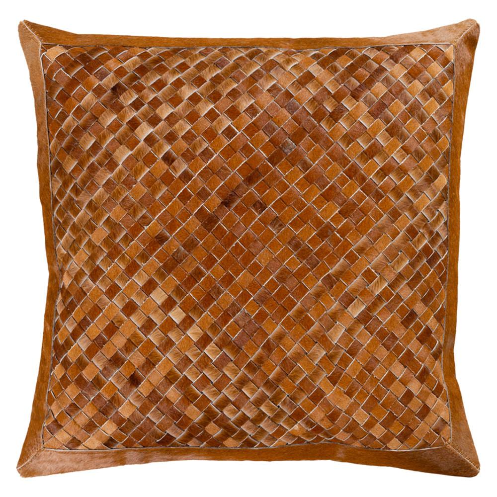 Ignacio Cowhide Throw Pillow - CES-001 20 x 20 inches Hair-on Cowhide Cinnamon