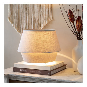 Minimalo Lamp - CMO-002 13.5 dia x 10.75 H inches Linen Natural