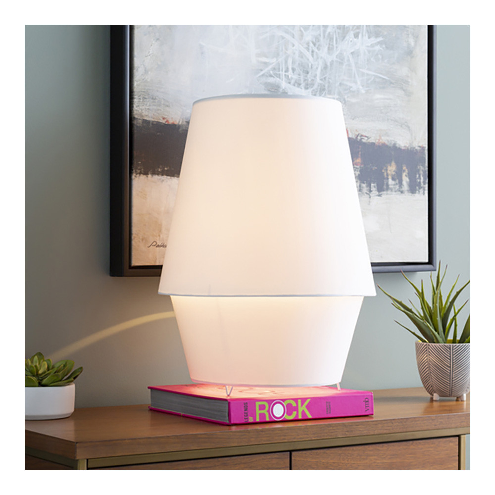 Minimalo Tall Lamp - CMO-003 16 dia x 21 H inches Linen White
