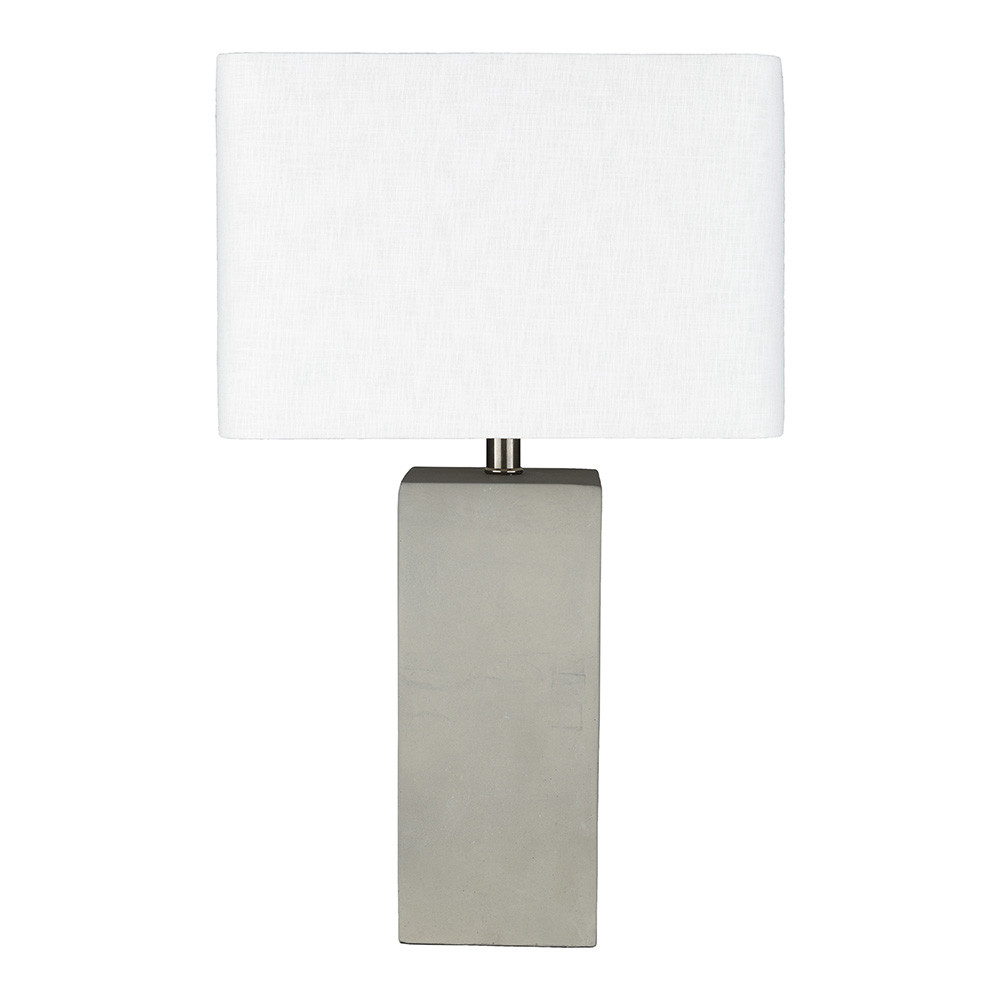 Pierre Table Lamp - SNS-002 Polished Concrete, Linen 11 x 15 x 24.75 H inches