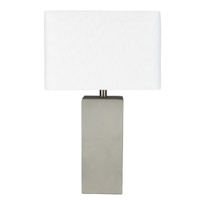 Pierre Table Lamp - SNS-002 Polished Concrete, Linen 11 x 15 x 24.75 H inches