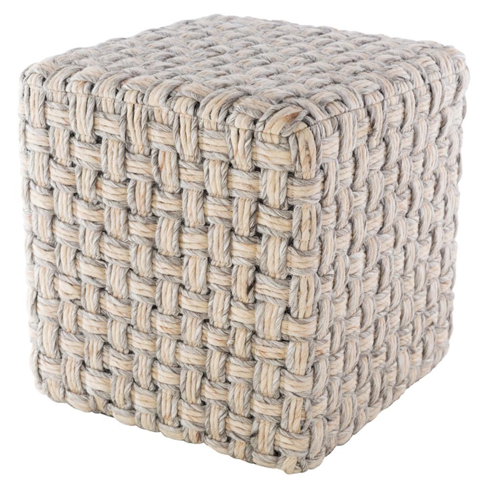 Cordoba  Pouf - CDPF-002 Wool, Polyester 18 x 18 x 18 H inches