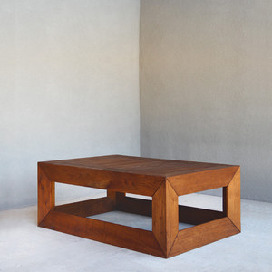Hugo Cocktail Table 24 x 48 x 16 H inches Spanish Cedar Coffee Brown