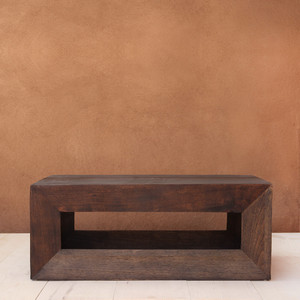 Hugo Cocktail Table 20 x 40 x 16 H inches Spanish Cedar Pale Black