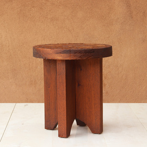 Xeno Outdoor Occasional Table 18 dia x 20 H inches Spanish Cedar Coffee