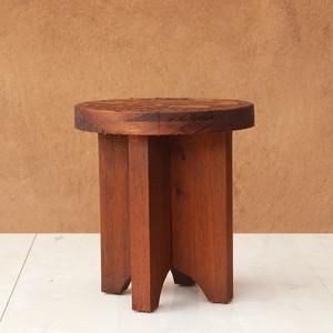 Xeno Outdoor Occasional Table 18 dia x 20 H inches Spanish Cedar Coffee