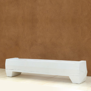 Xavier Solid Pine Bench 18 x 84 x 18 H inches Alabaster Painted Finish Sealed Topcoat