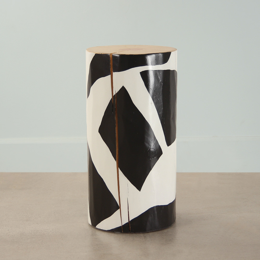 Orion Hand Painted Log Table 12 dia x 22 H inches