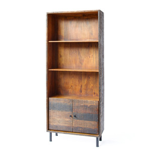 Broadview Rustic Bookcase 33.5 x 13.75 x 78.75 H inches Mango