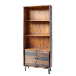 Broadview Rustic Bookcase 33.5 x 13.75 x 78.75 H inches Mango