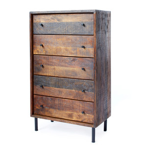 Broadview Rustic Chest 35.5 x 19 x 51.4 H inches Mango