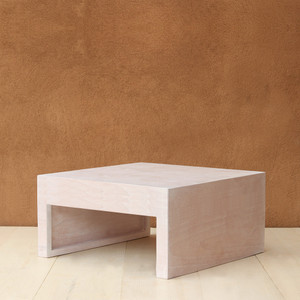 Zahavi Low Table 28 x 28 x 15 H inches Spanish Cedar White Wash