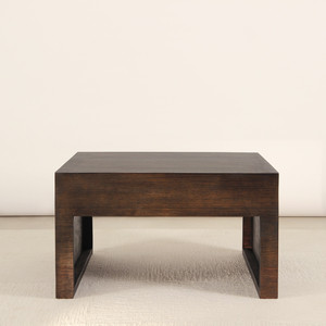Zahavi Low Table 28 x 28 x 15 H inches Spanish Cedar Pale Black