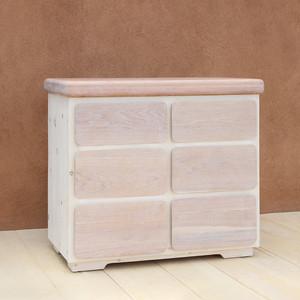 Paola Handmade Wooden Dresser 40 x 20 x 36 H inches Sugar Pine and Oak White Wash