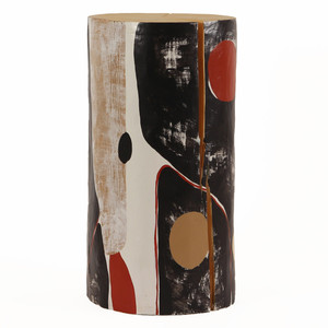 Alexandre Hand Painted Log Table 12 dia x 22 H inches
