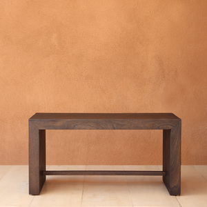 Danai Minimalist Bench 36 x 18 x 18 H inches Spanish Cedar Pale Black
