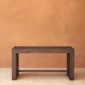 Danai Minimalist Bench 36 x 18 x 18 H inches Spanish Cedar Pale Black