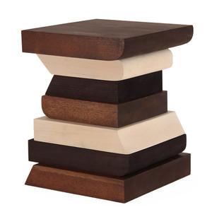 Acertijo Occasional Table 14 x 14 x 17.5 H inches Spanish Cedar, White Wash Bass, Ebony Sugar Pine Oiled Topcoat