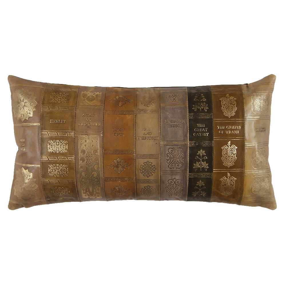 Novel Idea Pillow 10 x 18 inches Leather