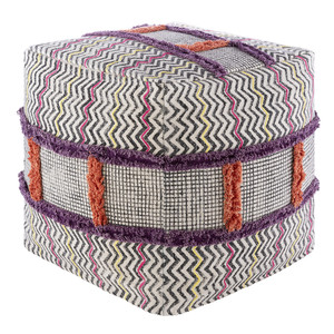 Luisa Block Print Pouf - RJPF-001 18 x 18 x 18 H inches Cotton