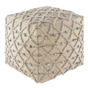 Peri Chenille Pouf - ARPF-001 18 x 18 x 18 H inches Cotton, PET
