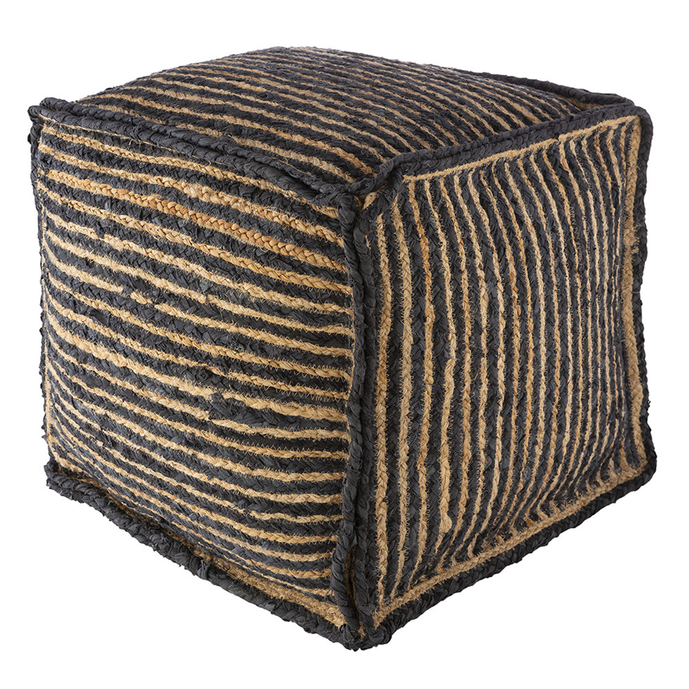 Sabi Sands Pouf - PRPF-001 18 x 18 x 18 H inches Cotton, Jute