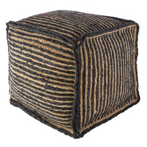 Sabi Sands Pouf - PRPF-001 18 x 18 x 18 H inches Cotton, Jute