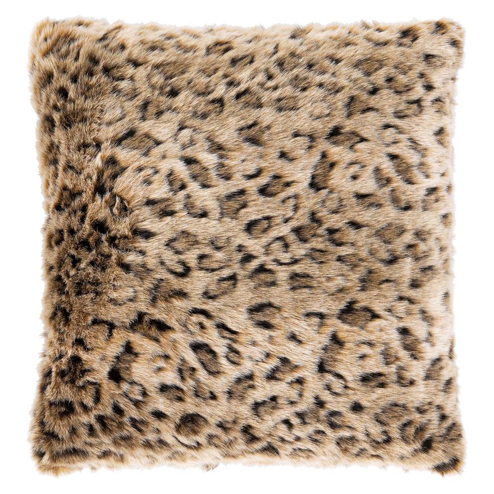 Hear Me Roar Faux Fur Pillow - Lewa LWA-001 18 x 18 inches Polyester