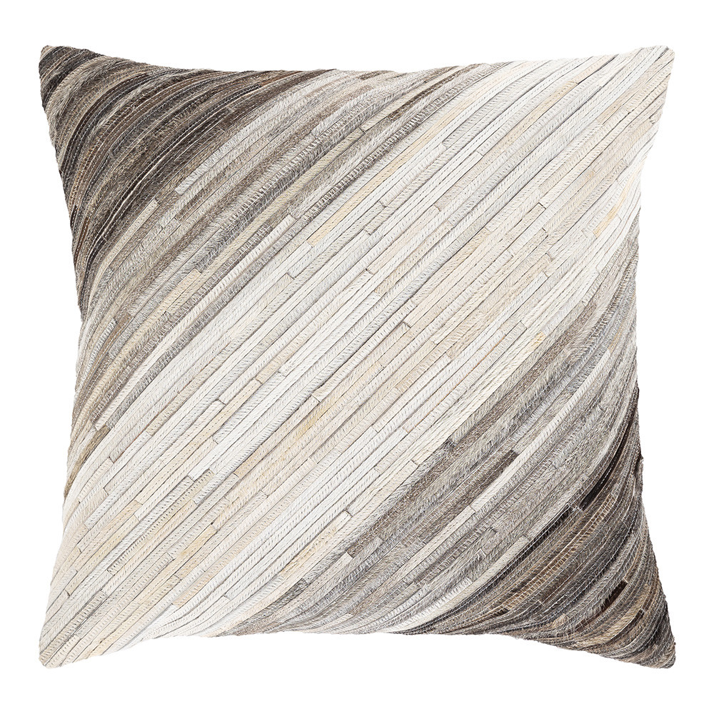 Wyoming Sky Hide Pillow - ZND-004 20 x 20 inches Hair-on Cowhide