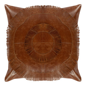 Mesquite Leather Throw Pillow -  MQT-001 Leather Fabric Back 20 x 20 inches