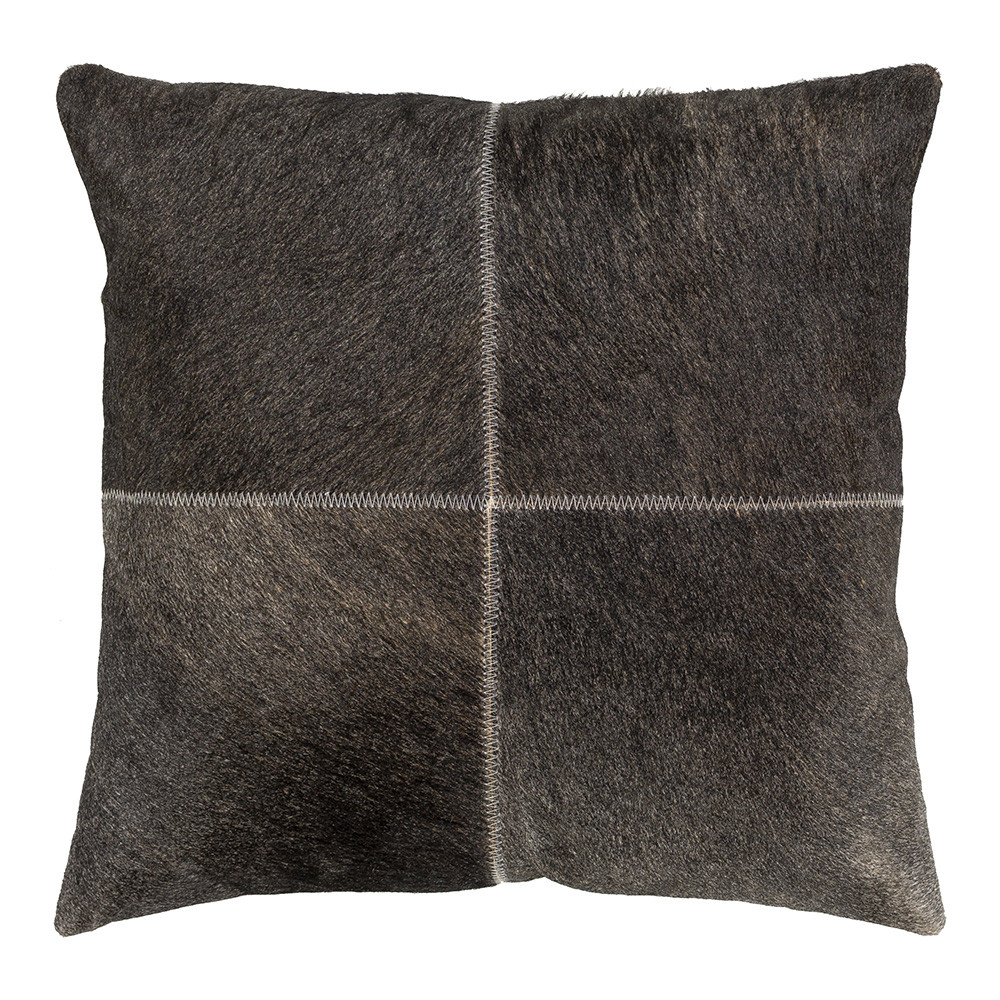 Storm Cloud Hide Pillow - ZVA-001 20 x 20 inches Hair-on Cowhide