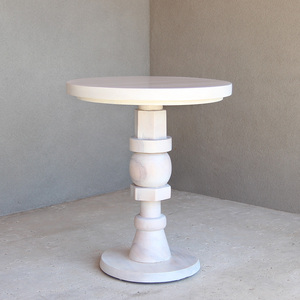 Bijoux Café Table 26 dia x 30 H inches White Wash Finish