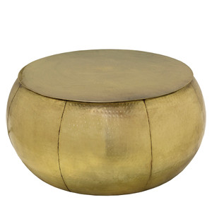Kailash Drum Cocktail Table - SAA-002 29 dia x 16 H inches Brass finished Iron