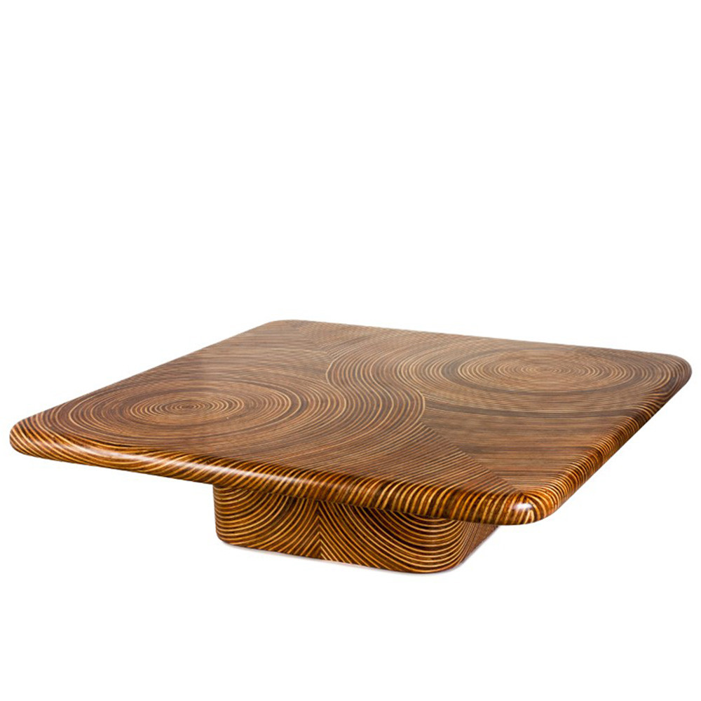 Showtime Square Cocktail Table 60 x 60 x 16 H inches Plywood frame with veneer finish