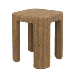 Corso End Table 20 x 20 x 24 H inches Rope wrapped wooden frame