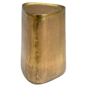 Estes Brass Occasional Table 12.5 x 12.5 x 20.5H inches Aluminum Antique Brass