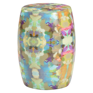 Indigo Girl Ceramic Garden Seat 12 dia x 18 H inches Ceramic