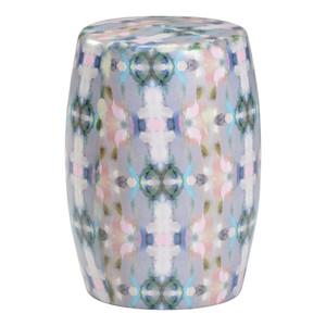 Mariposa Ceramic Garden Seat 12.5 dia x 18 H inches Ceramic
